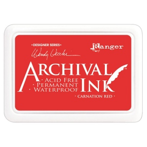 Ranger - Wendy Vecchi - Archival Ink Pads #0 - Carnation Red