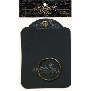 Graphic 45 - Staples - Regular Tag Album - Black