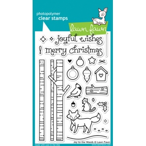 Lawn Fawn - Joy to the Woods Stamp Set