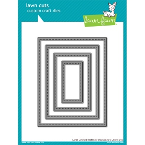Lawn Fawn - Lawn Cuts - Large Stitched Rectangle Stackables Dies