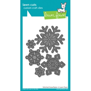 Lawn Fawn - Lawn Cuts - Stitched Snowflakes Dies
