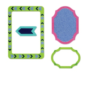 Sizzix - Life Made Simple - Thinlits Die Set 4 Pack - Frames - Decorative