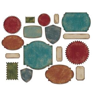 Sizzix - Tim Holtz Alterations - Thinlits Die Set 17 Pack - Labels