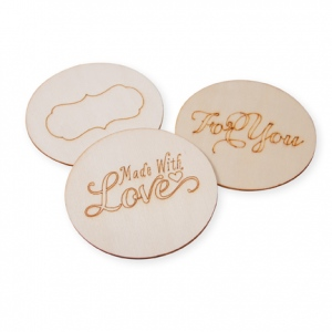 Cosmo Cricket - Show Toppers - Lid Set - Burned Wood