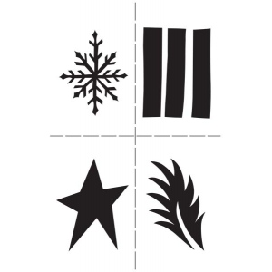 Ranger - Dyan Reaveley - Dylusions - Stencils - Shapes- Small