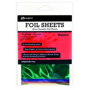 Ranger - Shiny Transfer Foil - 10 sheets - Basics