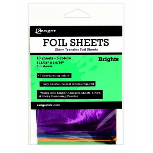 Ranger - Shiny Transfer Foil - 10 sheets - Brights