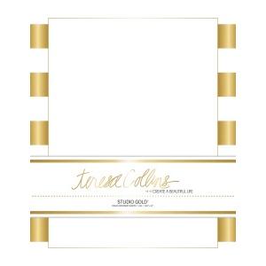 Teresa Collins Designs - Studio Gold - Stationery Pack - Stripes