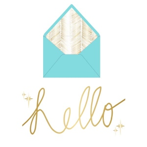 Teresa Collins Designs - Studio Gold - Card Set - Hello