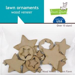 Lawn Fawn - Lawn Ornaments - Wood Veneer - Stars