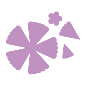 Couture Creations - Intricutz - Secret Garden - 4 Piece Layered Bloom Dies