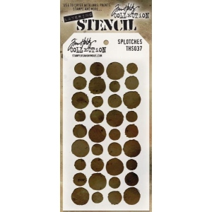 Stampers Anonymous - Tim Holtz - Stencil - Splotches