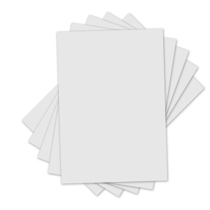 Sizzix - Inksheets - 4x6 Transfer Film - 5 White Sheets