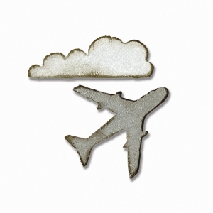 Sizzix - Tim Holtz Alterations - Movers & Shapers Magnetic Die Set 2 Pack - Mini Airplane & Cloud