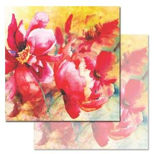 Ken Oliver - Watercolored Memories - Parrot Tulip 12x12 Paper