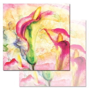 Ken Oliver - Watercolored Memories - Calla Lily 12x12 Paper