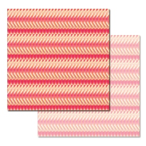 Ken Oliver - Pitter Patterns - Tattered Stripe 12x12 Paper
