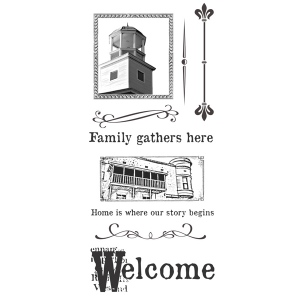 Ken Oliver - Hometown - Clear Stamps - Set 2