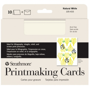 """Strathmore® Full Size Printmaking Cards 10-Pack: White/Ivory, Card, 10 Cards, 5"""" x 6 7/8"""", Medium, 280 g, (model ST105-433), price per 10 Cards"""