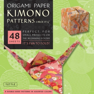 "Tuttle 8.25"" Origami Paper Kimono Patterns: Sheet, 8 1/4"", Origami, (model T310717), price per pack"