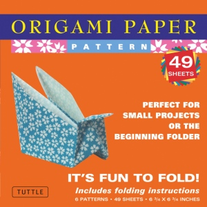 """Tuttle 6.75"""" Patterned Origami Paper ; Format: Sheet; Size: 6 3/4""""; Type: Origami; (model T835251), price per pack"""