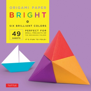 "Tuttle 6"" Origami Paper Brights; Format: Sheet; Size: 6""; Type: Origami; (model T837972), price per pack"