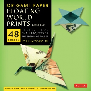 """Tuttle 8.25"""" Origami Paper Floating World: Sheet, 8 1/4"""", Origami, (model T843393), price per pack"""