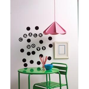 "Wallies® Peel & Stick Chalkboard Dots: Black/Gray, 2 3/4"", Chalkboard, (model WALL16056), price per pack"