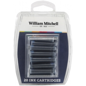 William Mitchell Universal Assorted Color Calligraphy Ink Cartridges; Quantity: 20-Pack; Type: Refill; (model WM30104), price per set