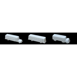 "Wee Scapes™ Architectural Model Vehicles 3-Pack (Truck/Bus); Color: White/Ivory; Quantity: 3-Pack; Size: 2"" - 3 1/2""; Type: Vehicles; (model WS00397), price per 3-Pack"