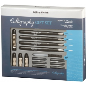 William Mitchell Calligraphy Gift Set; Nibs Included: Yes; Pen Holder: Yes; Tip Size: Assorted; Type: Pen Holder & Nib Sets; (model WM35905), price per set
