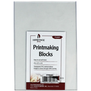 "Heritage Arts™ Clear Printmaking Blocks 6-Pack; Color: Clear; Material: PVC; Mounted: No; Size: 4"" x 6""; Thickness: 1/8""; Type: Block; (model HPMB46C), price per pack"
