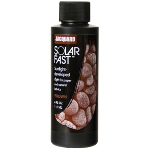 Jacquard SolarFast ™ Brown Dye 4 oz; Color: Brown; Format: Bottle; Size: 4 oz; Type: Sunlight-Developed; (model JSD1-112), price per each