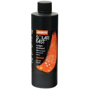 Jacquard SolarFast ™ Orange Dye 8 oz; Color: Orange; Format: Bottle; Size: 8 oz; Type: Sunlight-Developed; (model JSD2-101), price per each