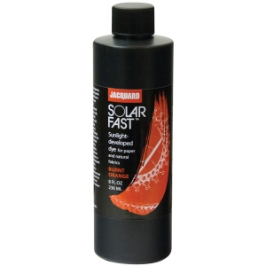 Jacquard SolarFast ™ Burnt Orange Dye 8 oz: Orange, Bottle, 8 oz, Sunlight-Developed, (model JSD2-102), price per each