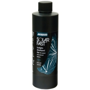 Jacquard SolarFast ™ Teal Dye 8 oz: Blue, Bottle, 8 oz, Sunlight-Developed, (model JSD2-108), price per each