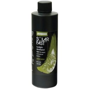 Jacquard SolarFast ™ Avocado Dye 8 oz; Color: Green; Format: Bottle; Size: 8 oz; Type: Sunlight-Developed; (model JSD2-110), price per each