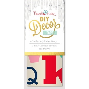 Hazel & Ruby - Decor Tape - Alphabet Soup - 4 inch