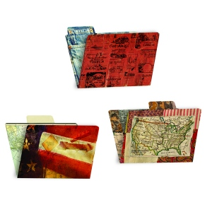 7Gypsies - American Vintage - Printed 4x6 File Folders