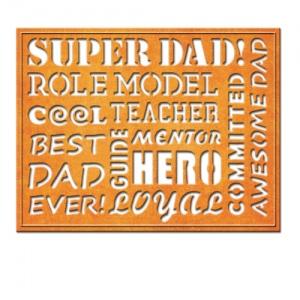 Spellbinders - Card Creator - Awesome Dad Dies