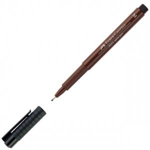 Faber-Castell® PITT® Artist Pen Sepia Medium: Brown, India, Pigment, Medium Nib, (model FC167375), price per each