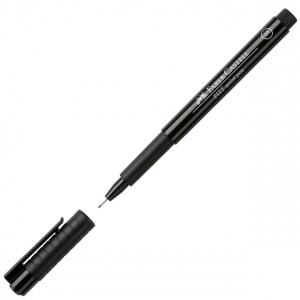 Faber-Castell® PITT® Artist Pen Black Superfine; Color: Black/Gray; Ink Type: India, Pigment; Tip Type: Super Fine Nib; (model FC167199), price per each