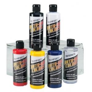 Auto-Air Colors™ Airbrush Paint Transparent Set: Multi, Bottle, 4 oz, Airbrush, (model 4963-00), price per set