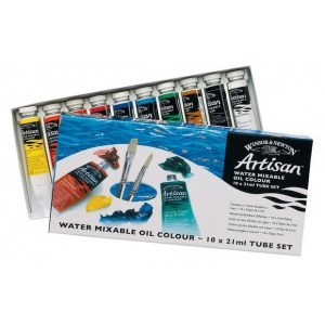 Winsor & Newton™ Artisan Water Mixable Oil 10-Color Set: Multi, Tube, 21 ml, Oil, (model 1590227), price per set