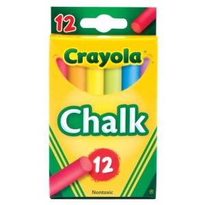 Crayola® Chalk Sticks 12-Color Multicolor; Color: Multi; Format: Stick; (model 51-0816), price per pack
