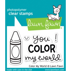 Lawn Fawn - Color My World Stamp Set