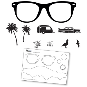 Claritystamps - Summer Shades Stamps & Mask Set