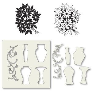 Claritystamps - Bouquet Stamps & Vase Stencil Set