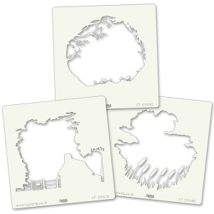 Claritystamps - Countryside Stencils Set