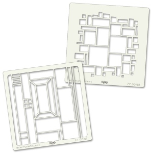 Claritystamps - Abstract Squares Stencils Set